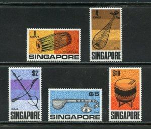 SINGAPORE  SCOTT #107/11, SG #101/02, 113/15 MINT NH--SG VALUE 56 pounds
