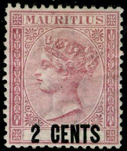 MAURITIUS SG83, 2c dull rose, M MINT. Cat £20.