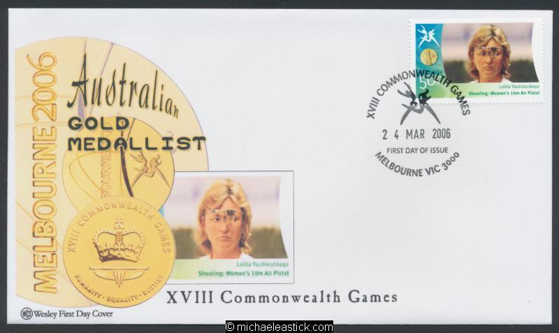 24-Mar-2006 Australia Commonwealth Games Gold Medallist Wesley Shooting FDC