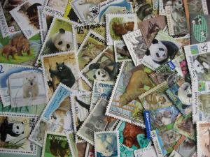 BEARS topic 50 different stamps + 1 SS, includes postally used check them out!