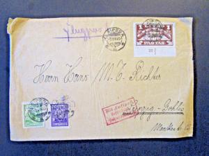 Lithuania 1925 Airmail Cover to Germany / Light Creasing - Z5384