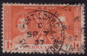 SIERRA LEONE 1937 Coronation 1d PORT LOKKO cds.............................60244