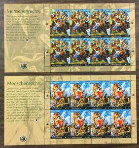 (BJ Stamps) UN-VIENNA. #355-6. 2004, set of 2 in sheets of 8. MNH. CV $41.50.