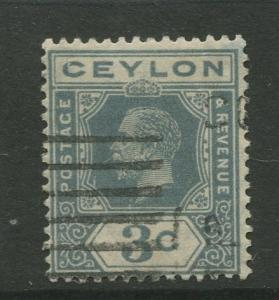 Ceylon #228 Used  1922  Single 3c Stamp