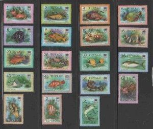 TUVALU #96-113 1979 FISH MINT VF NH O.G