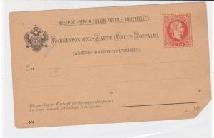 austria unused stamps card ref 20912