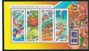 Singapore 759A MNH 1996 Olympics S/S (ap6904)