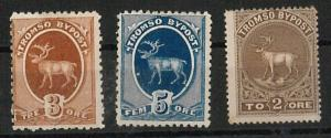 56847 -   NORWAY  - STAMPS:  SMALL LOT of local REVENUE STAMPS: Tromsø