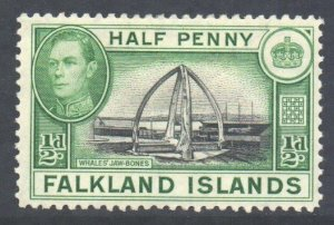 Falkland Is Scott 84 - SG146, 1938 George VI 1/2d MH*