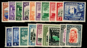 CYPRUS SG151-163, COMPLETE SET, LH MINT. Cat £250.