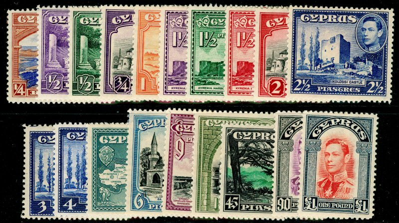 CYPRUS SG151-163, COMPLETE SET, LH MINT. Cat £250.