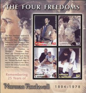 Anguilla #2725 Norman Rockwell - The Four Freedoms MNH