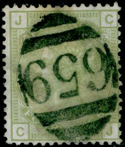 SG153, 4d sage-green PLATE 16, USED. Cat £300. CJ
