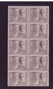 Sweden Sc846a 1969 Nobel Prize stamp booklet pane