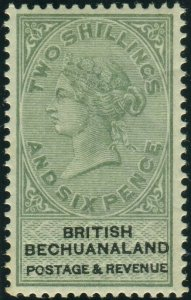 BECHUANALAND-1888 2/6 Green & Black.  A lightly mounted mint example Sg 17