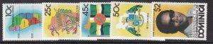 DOMINICA  ^^^^Sc#602-608   MNH set $$@ lar811dom