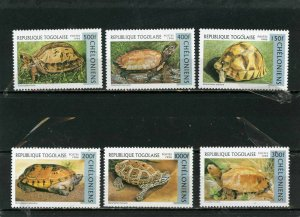 TOGO 1996 Sc#1790-1795 FAUNA/TURTLES SET OF 6 STAMPS MNH