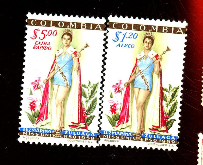 Colombia #C317-18 MINT F-VF OG LH Cat$49.95