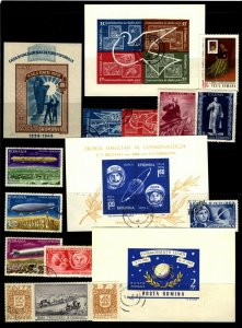 Romania 1946-90 selection ss sets & short sets cto & unused perf & imperf 19 sta
