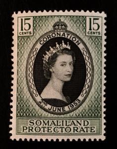 Somaliland Protectorate Scott 127 QEII Coronation-Mint NH