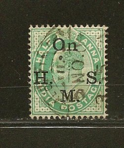 India O38 ON H M S King Edward VII Official Used