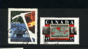 Canada #1721-22    -3   used VF  1998 PD