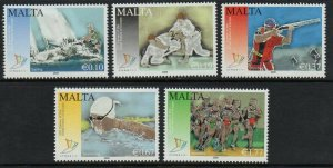 MALTA SG1622/6 2009 13th GAMES OF THE SMALL STATES OF EUROPE MNH