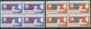 ASCENSION 1965 ITU set in blocks of 4 MNH..................................51556
