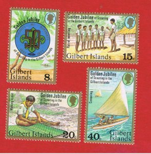 Gilbert Islands #304-307  MNH OG  Scouting  Free S/H