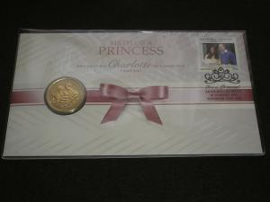 2015 AUSTRALIA Stamps BIRTH OF PRINCESS CHARLOTTE $1 COIN COVER UNCIRCULATED