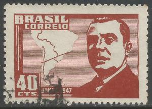 BRAZIL 671 VFU MAP Z3631-3