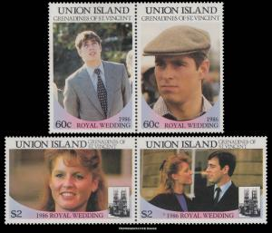 St. Vincent Union Islands MNH 228-9 Pairs Royal Wedding Prince Andrew