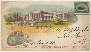 U.S., Scott #294, Pan American Expo, Used on 1901 Multicolor Advertising Cover