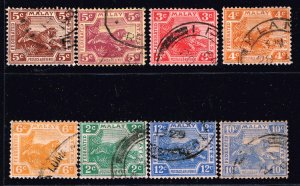 British Colonies & Territories Malaya STATE USED STAMPS COLLECTION LOT  #2
