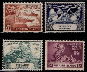 Pitcairn Islands Scott 13-16 MH* 1949 UPU stamp set
