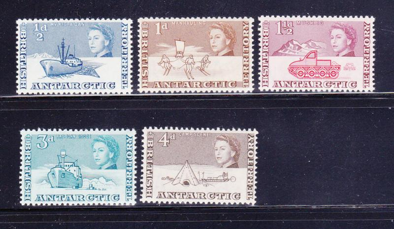 British Antarctic Territory 1-3, 6-7 MN Various