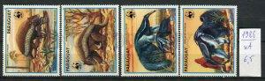 265655 Paraguay 1988 year MNH stamp set WWF anteater Cingulata