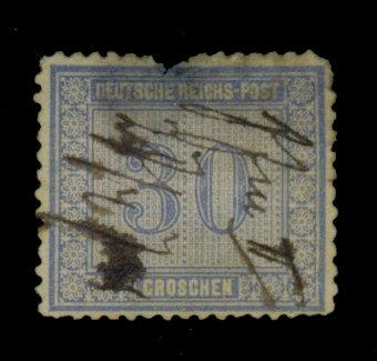 Germany #13 Used Pen cancel Fine thin nick Cat$525
