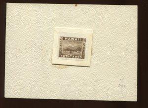 Hawaii Scott 75P3 Plate Proof on India Paper Unused Stamp (Stock H75-P1)