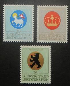 Liechtenstein 475-77. 1970 Ecclesiastical Arms, NH