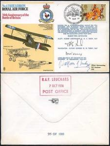 RAF27c No.43 Squadron RAF Signed by Crew and Lord Balfour (A)