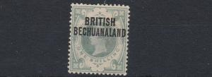 BECHUANALAND 1891  S G 37     1/-   DULL   GREEN  MH  SMALL CORNER CREASE