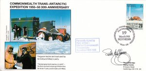 British Antarctic Territory FDC Sc 147 Signed Peter Jeffries Cachet Ferguson ...