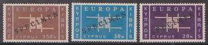 Cyprus - 1963 Europa Set with SPECIMEN Ovpt. VF-NH