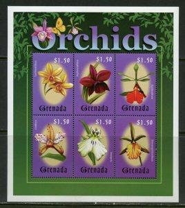 GRENADA ORCHIDS SHEET  MINT NH
