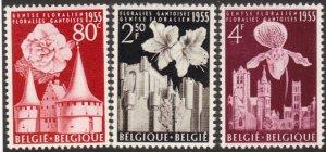 Belgium #482-84 MNH cpl flowers