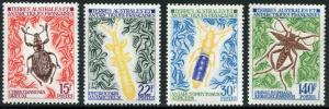 FSAT - # 46 47 49 51 Very Fine Never Hinged Issues - BEETLES INSECTS - S5617