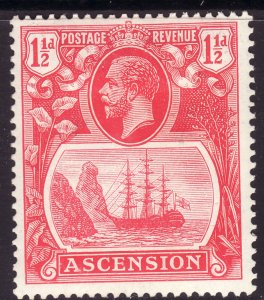 1924 Ascension King George V KGV 1½p Badge of the Colony MMH Sc# 12 CV $10.00