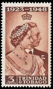 Trinidad-Tobago SC 64 - George V & Elizabeth 25th Wedding Anniv  - MH -1948