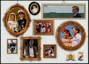 HERRICKSTAMP NEW ISSUES CURACAO Sc.# 302 King Willem-Alexander Sheetlet